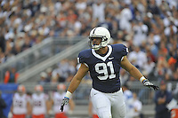 12 September 2009:  Penn State DT Jared Odrick (91) celebrates after a stop.  The Penn State Nittany Lions defeated the Syracuse Orangemen 28-7 at Beaver Stadium in State College, PA..