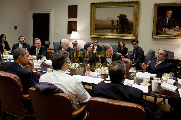 United States President Barack Obama participates in a college affordability roundtable with college presidents in the Roosevelt Room of the White House, December 5, 2011. .CAP/ADM/CNP/PS.©Pete Souza/White House/CNP/ADM/CapitalPictures