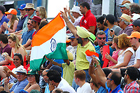 India Fans celebrate their teams goal during the Hockey World League Semi-Final match between Pakistan and India at the Olympic Park, London, England on 18 June 2017. Photo by Steve McCarthy.