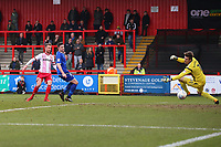 Dean Bowditch of Stevenage scores the first goal for his team during Stevenage vs Crewe Alexandra, Sky Bet EFL League 2 Football at the Lamex Stadium on 10th March 2018