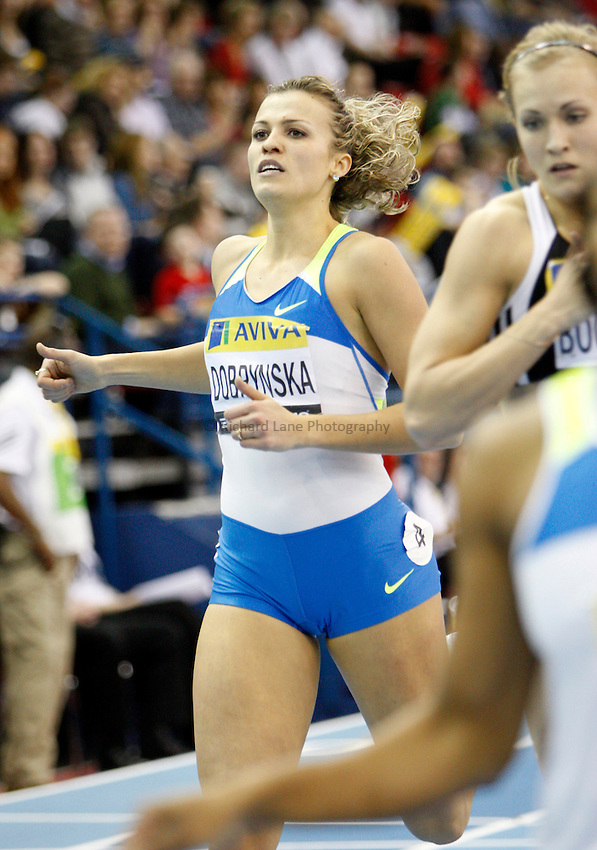 Photo: Richard Lane/Richard Lane Photography..Aviva Grand Prix. 21/02/2009. Ukraine's Natalya Dorbynska in the Three Event Challenge women's 400m.