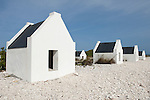 Bonaire, Netherlands Antilles; slave huts, constructed in 1850, were used as sleeping quarters and to store personal belongings for slaves working at the salt ponds , Copyright © Matthew Meier, matthewmeierphoto.com All Rights Reserved