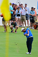 Hideki Matsuyama (JPN) hits his approach shot on 13 during round 3 of the World Golf Championships, Dell Technologies Match Play, Austin Country Club, Austin, Texas, USA. 3/24/2017.<br /> Picture: Golffile | Ken Murray<br /> <br /> <br /> All photo usage must carry mandatory copyright credit (&copy; Golffile | Ken Murray)