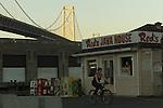 Reds Java house along the Embarcadero under the Bay Bridge in San Francisco, California.