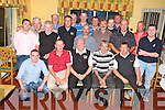 Members of the Darby O'Gills golf sociaety pictured with Pat Gill, President and Donal Kelly, Captain, in Darby O'Gills hotel, Killarney after the Captains Prize competition on Saturday...