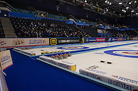 Glasgow. SCOTLAND.  General View of the Le Gruy&egrave;re European Curling Championships. 2016 Venue, Braehead  Scotland<br /> Wednesday  23/11/2016<br /> <br /> [Mandatory Credit; Peter Spurrier/Intersport-images]