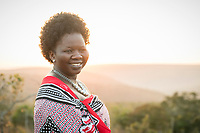Portrait of community development officer standing at Mhlumeni Bush Camp, Eswatini