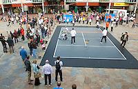 06-05-10, Zoetermeer, SilverDome, Tennis,  Davis Cup, Netherlands-Italy, Streettennis with the Daviscupteam