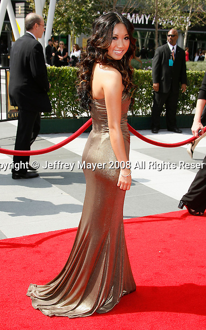 LOS ANGELES, CA. - September 13: Actress Brenda Song arrives at the 60th Primetime Creative Arts Emmy Awards held at Nokia Theatre on September 13, 2008 in Los Angeles, California.