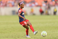 Houston, TX - Sunday Oct. 09, 2016: Crystal Dunn during the National Women's Soccer League (NWSL) Championship match between the Washington Spirit and the Western New York Flash at BBVA Compass Stadium. The Western New York Flash win 3-2 on penalty kicks after playing to a 2-2 tie.