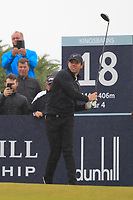 Rory McIlroy (NIR) on the 18th tee during Round 2 of the Alfred Dunhill Links Championship 2019 at Kingbarns Golf CLub, Fife, Scotland. 27/09/2019.<br /> Picture Thos Caffrey / Golffile.ie<br /> <br /> All photo usage must carry mandatory copyright credit (© Golffile | Thos Caffrey)