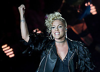 American pop singer Pink performs on the Waldbuehne ('Forest Stage') in Berlin, Germany, 11 August 2017. Photo: Britta Pedersen/dpa/MediaPunch ***FOR USA ONLY***