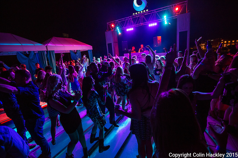 A Saturday night celebration at Recess, a rooftop club in Tallahassee's College Town area in the Gaines Street corridor.  <br /> <br /> COLIN HACKLEY PHOTO