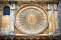 The astronomical clock (1528)  of the Cathedral of Chartres, France. A UNESCO World Heritage Site. .