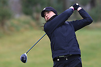 Thalia Kirby (ENG) on the 1st tee during Round 1 of the Irish Girls U18 Open Stroke Play Championship at Roganstown Golf &amp; Country Club, Dublin, Ireland. 05/04/19 <br /> Picture:  Thos Caffrey / www.golffile.ie