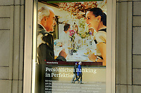 Advertising for private banking at one of Liechtenstien's many banks. Liechtenstein has become a major tax haven, whose opaque banking laws are said to aid fraud, money laundering and tax evasion. There are an estimated 75,000 companies registered in the country, twice that of the population. .