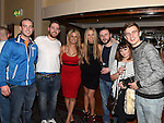 Cillian Bolton, Niall Finglas, Louise Furlong, Hannah Fitzsimmons, Cian Gaffney, Cian Whelan and Jane Wilson pictured at the white collar boxing in the Westcourt Hotel in aid of Drogheda Animal Rescue. Photo:Colin Bell/pressphotos.ie