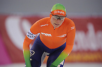SPEEDSKATING: SOCHI: Adler Arena, 21-03-2013, Essent ISU World Championship Single Distances, Day 1, 3000m Ladies, Linda de Vries (NED), © Martin de Jong