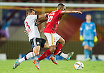 (R) Robinho of Guangzhou Evergrande competes for the ball with (L) Rafinha of Bayern Munich during the Bayern Munich vs Guangzhou Evergrande as part of the Bayern Munich Asian Tour 2015  at the Tianhe Sport Centre on 23 July 2015 in Guangzhou, China. Photo by Aitor Alcalde / Power Sport Images