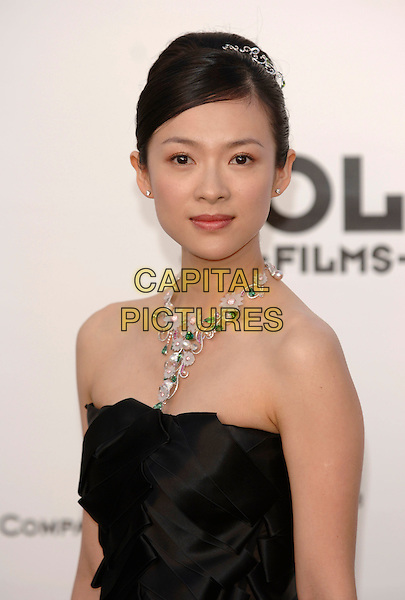 ZIYI ZHANG.arrivals at amfAR's Cinema Against Aids benefit at Moulins de Mougins, Cannes..59th International Cannes Film Festival, France.25th May 2006.Ref: PL.portrait headshot black strapless flower necklace jewellery.www.capitalpictures.com.sales@capitalpictures.com.©Phil Loftus/Capital Pictures.