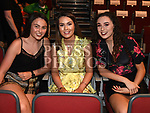 Emma White, Kaitlyn Kirwan and Orlaith McEntee at the Lipsync for Hannah show in the TLT. Photo:Colin Bell/pressphotos.ie