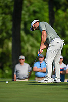 Francesco Molinari (ITA) sinks his long birdie putt on 2 during round 3 of the 2019 Charles Schwab Challenge, Colonial Country Club, Ft. Worth, Texas,  USA. 5/25/2019.<br /> Picture: Golffile | Ken Murray<br /> <br /> All photo usage must carry mandatory copyright credit (© Golffile | Ken Murray)