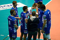GRONINGEN - Volleybal, Lycurgus - Amriswil, CEV Cup, Martiniplaza , seizoen 2018-2019, 04-12-2018, time out Lycurgus
