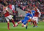 26.02.2020 SC Braga v Rangers: Ryan Jack wins the ball from Joao Palhinha