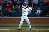 DJ Poteet (4) of the Wake Forest Demon Deacons at bat against the North Carolina State Wolfpack at David F. Couch Ballpark on April 18, 2019 in  Winston-Salem, North Carolina. The Demon Deacons defeated the Wolfpack 7-3. (Brian Westerholt/Four Seam Images)