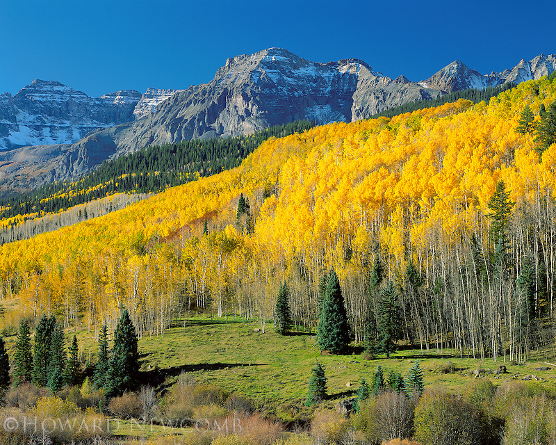 Crisp and colorful Colorado morning in the San Juan mountains.