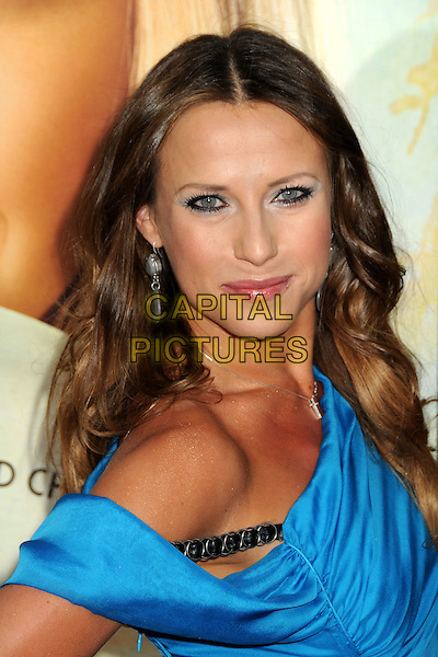 "EDYTA SLIWINSKA.Attending ""Letters To Juliet"" Los Angeles Premiere held at Grauman's Chinese Theatre, Hollywood, California , USA, .11th May 2010..arrivals portrait headshot blue off the shoulder make-up eyeshadow .CAP/ADM/BP.©Byron Purvis/AdMedia/Capital Pictures."