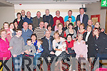 Baby Ella drew a hugh family crowd to Gally's.bar/restaurant,Castlemaine Rd Tralee,last Sunday evening after being.Christened by her parents John&Maria McCannon(seated centre)from.Clonmore,Tralee at St John's church by Fr Kieran O'Brien.