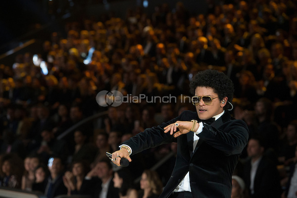 Bruno Mars<br /> Victoria's Secret Fashion Show at the  Grand Palais, Paris, France on 30th November 2016.<br /> CAP/GOL<br /> ©GOL/Capital Pictures /MediaPunch ***NORTH AND SOUTH AMERICAS ONLY***