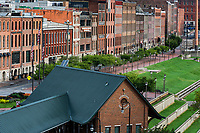 Historic buildings along First Avenue, Nashville, Tennessee, USA.