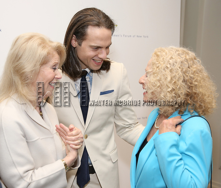Daryl Roth, Jordan Roth and Carole King attends The 7th Annual Elly Awards at The Plaza Hotel on June 19, 2017 in New York City.