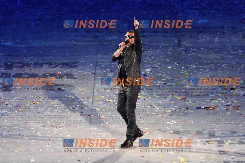 George Michael.Londra 12/08/2012 Olympic Stadium.London 2012 Olympic Games Closing Ceremony.Olimpiadi Londra 2012 Cerimonia d chiusura.Foto Insidefoto Paolo Nucci.