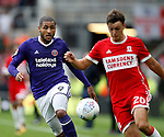 Leon Clarke of Sheffield Utd during the Championship match at the Riverside Stadium, Middlesbrough. Picture date: August 12th 2017. Picture credit should read: Simon Bellis/Sportimage