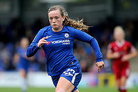 Erin Cuthbert of Chelsea Ladies in action during Chelsea Ladies vs Liverpool Ladies, FA Women's Super League FA WSL1 Football at Kingsmeadow on 7th October 2017