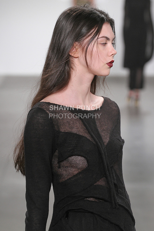 Hair styling by Cutler for the Gioia Pan Fall 2016 collection, for the JD Fashion Fall 2016 runway show at Pier 59 Studios for NYFW: The Shows, during New York Fashion Week Fall 2016.