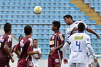 BARUERI, SP, 11 DE JANEIRO DE 2013 - COPA SÃO PAULO DE FUTEBOL JUNIOR - CONFIANÇA (SE) x SERTÃOZINHO: Lance da partida Confiança (SE) x Sertãozinho (SE), válida pela primeira fase da Copa São Paulo de Futebol Junior, disputado na Arena Barueri. FOTO: LEVI BIANCO - BRAZIL PHOTO PRESS