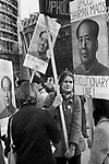Mao Zedong, Maoists students rally to support Chairman Maos Revolutionary Line. London 1976 demonstration. 1970 Uk