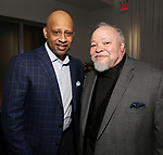Ruben Santiago-Hudson and Stephen McKinley Henderson attend the SDC Foundation presents The Mr. Abbott Award honoring Kenny Leon at ESPACE on March 27, 2017 in New York City.