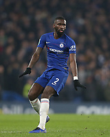 Chelsea's Antonio Rudiger<br /> <br /> Photographer Rob Newell/CameraSport<br /> <br /> The Carabao Cup Semi-Final Second Leg - Chelsea v Tottenham Hotspur - Thursday 24th January 2019 - Stamford Bridge - London<br />  <br /> World Copyright © 2018 CameraSport. All rights reserved. 43 Linden Ave. Countesthorpe. Leicester. England. LE8 5PG - Tel: +44 (0) 116 277 4147 - admin@camerasport.com - www.camerasport.com