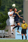 29 August 2014: North Carolina's Colton Storm (6) and Cal's Max Oldham (9). The University of North Carolina Tar Heels hosted the University of California Bears at Fetzer Field in Chapel Hill, NC in a 2014 NCAA Division I Men's Soccer match. North Carolina won the game 3-1.