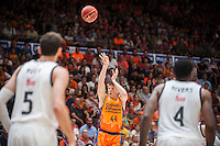 VALENCIA, SPAIN - June 11: Luke Harangody during SEMI FINAL ENDESA LEAGUE match between Valencia Basket Club and Real Madrid Basket at Fonteta Stadium on June 11, 2015 in Valencia, Spain