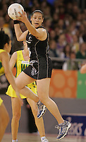 21.07.2007 Silver Ferns Sheryl Scanlan in action during the Silver Ferns v Australia Netball Test Match at Vodafone Arena, Melbourne Australia. The Silver Ferns won 67-65 after double extra time. Mandatory Photo Credit ©Michael Bradley. **$150 + GST USAGE FEE DOES APPLY**