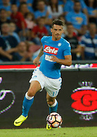 Christian Maggio  during the  italian serie a soccer match,between SSC Napoli and AC Chievo       at  the San  Paolo   stadium in Naples  Italy , September 25, 2016