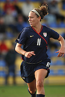 US forward Lauren Cheney in game vs Norway in 2010 Algarve Cup game in Ferreiras, Portugal.