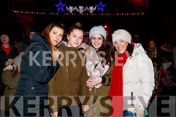 Catriona Sas, Vanessa Sas, Emma and Audrey Christie at the Fireworks in Tralee on New Years Eve.