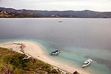 INDONESIA, Flores, view of Riung and the Flores Sea from the top of Rutong island